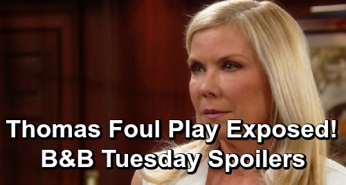 The Bold and the Beautiful Spoilers: Tuesday, June 25 - Pam Offers Clues to Emma's Death - Brooke on Thomas' Trail of Foul Play