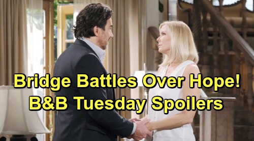 The Bold and the Beautiful Spoilers: Tuesday, June 4 - Flo Guilty Over Lope Annulment - Bridge Battles Over Hope's Future