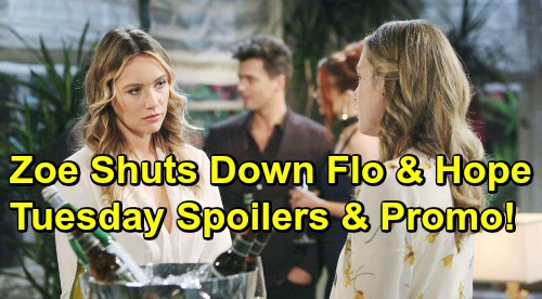 The Bold and the Beautiful Spoilers: Tuesday, March 5 - Zoe Shuts Down Flo and Hope - Wyatt Considers Steffy For Liam