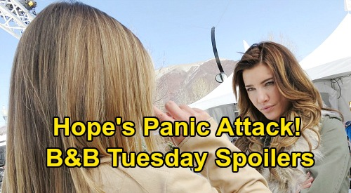 The Bold and the Beautiful Spoilers: Tuesday, May 12 - Hope's Panic Attack - Bill's Devious Plot - Steffy & Liam In Love