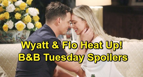 The Bold and the Beautiful Spoilers: Tuesday, May 28 - Thomas Kisses Hope Again - Flo & Wyatt Enjoy Some Hot Alone Time