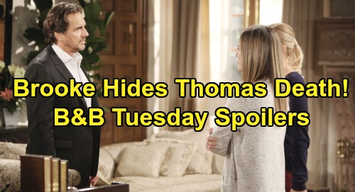 The Bold and the Beautiful Spoilers: Tuesday, November 19 - Brooke Hides Thomas Death, Tells Ridge About Indecent Proposal Instead