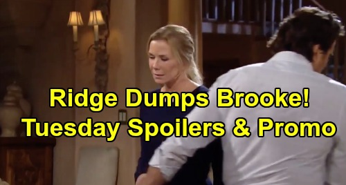 The Bold and the Beautiful Spoilers: Tuesday, November 26 - Ridge Walks Out On Brooke - Thomas Tells Douglas Hope's His New Mother