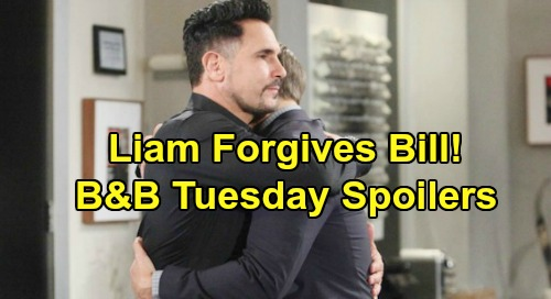 The Bold and the Beautiful Spoilers: Tuesday, November 5 - Liam's Future At Spencer, Forgives Bill - Zoe Kisses Thomas