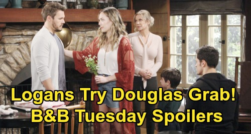 The Bold and the Beautiful Spoilers: Tuesday, October 22 - Hope Asks Liam To Raise Douglas - Thomas Discovers Logan Plot To Take Son