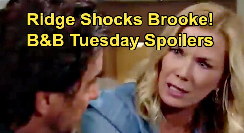 The Bold and the Beautiful Spoilers:Tuesday, September 3 - Brooke Shocked Ridge Doubts Her Story - Flo Feels Guilty For Thomas
