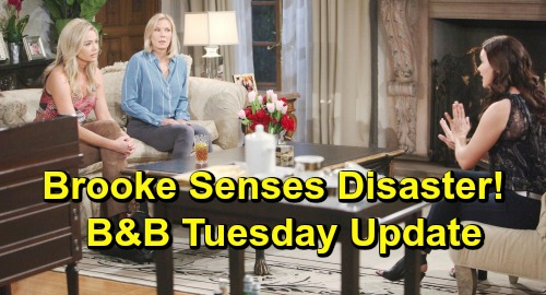 The Bold and the Beautiful Spoilers: Tuesday, May 14 Update – Brooke Senses Disaster Over Bill Test – Flo and Shauna Living Large