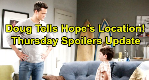 The Bold and the Beautiful Spoilers: Thursday, August 22 Update – Douglas Reveals Hope's Location to Thomas – Ridge's Father Failure
