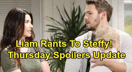 The Bold and the Beautiful Spoilers: Thursday, December 5 Update – Liam Rants to Steffy About Delusional Brother – Thomas' Pitch to Hope