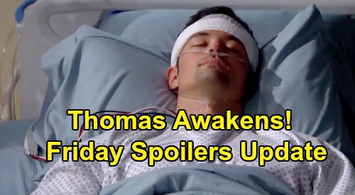 The Bold and the Beautiful Spoilers: Friday, August 30 Update – Thomas Awakens – Detective Sanchez Wants The Truth