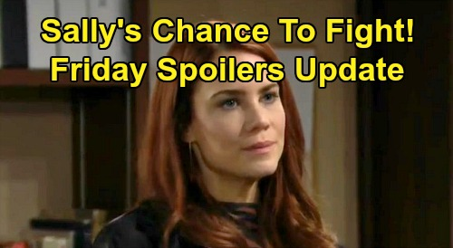 The Bold and the Beautiful Spoilers: Friday, February 14 Update – Sally's Chance to Fight - Douglas Bonding a Bust, Zoe Frustrated