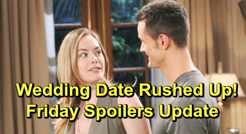 The Bold and the Beautiful Spoilers: Friday, July 12 Update – Sally Tricks Flo But Not Wyatt - Hope Pushed Into Quickie Marriage