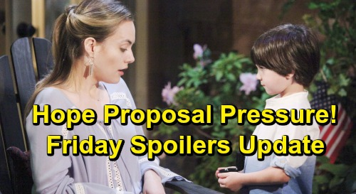 The Bold and the Beautiful Spoilers: Friday, July 5 Update – Xander Seeks Deadly Thomas Proof – Hope Reacts to Proposal Pressure