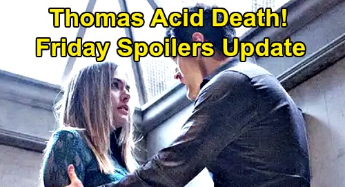 The Bold and the Beautiful Spoilers: Friday, November 8 Update – Thomas' Presumed Death Rocks Hope – Showdown Ends in Disaster