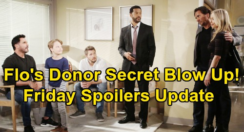 The Bold and the Beautiful Spoilers: Friday, October 11 Update – Flo's Donor Secret Blow Up – Katie Insists on Meeting Her Angel