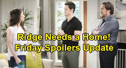 The Bold and the Beautiful Spoilers: Friday, October 4 Update - Ridge Meets Steffy and Thomas - Dr. Davis Gives Katie Bad News