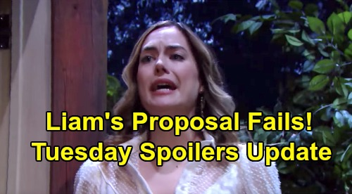 The Bold and the Beautiful Spoilers: Tuesday, January 7 Update – Liam's Failed Marriage Proposal – Thomas Spars with Steffy