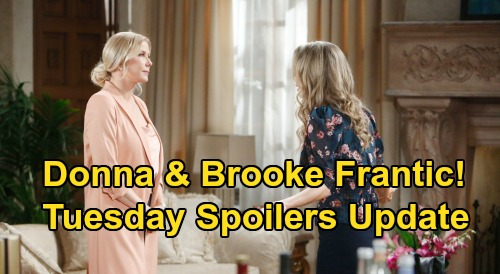 The Bold and the Beautiful Spoilers: Tuesday, March 24 Update – Sally Gives Flo First Clue – Donna & Brooke's Frantic Mission