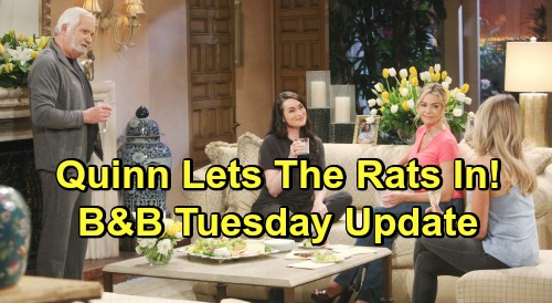 The Bold and the Beautiful Spoilers: Tuesday, May 21 Update – Thomas Destroys Lope - Letter Brings Hope's Decision, Liam's Heartbreak