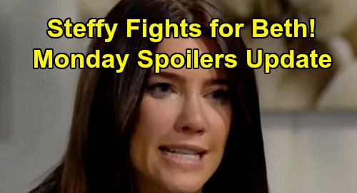 The Bold and the Beautiful Spoilers: Monday, August 12 Update – Steffy and Hope's Nasty Beth Battle – Sally's Flo Shocker