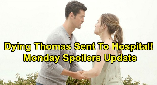 The Bold and the Beautiful Spoilers: Monday, August 26 Update – Dying Thomas Rushed to Hospital – Bill's Flo Fury Erupts
