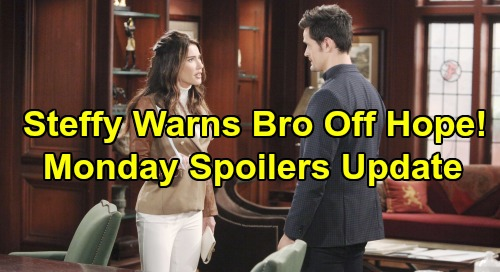 The Bold and the Beautiful Spoilers: Monday, December 9 Update – Steffy Warns Thomas Hands Off Hope – Ridge Gives Up on Brooke