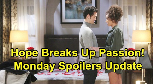 The Bold and the Beautiful Spoilers: Monday, February 24 Update – Hope Derails Thomas & Zoe's Passion – Ridge Accepts Brooke's Offer