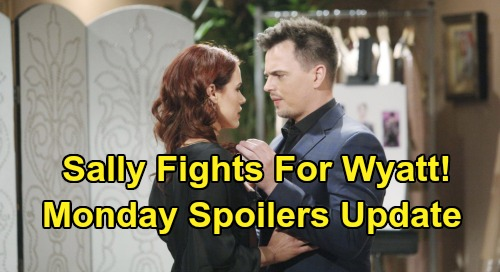 The Bold and the Beautiful Spoilers: Monday, January 20 Update – Sally Won't Let Flo Steal Wyatt – Quinn Plots Revenge On Brooke