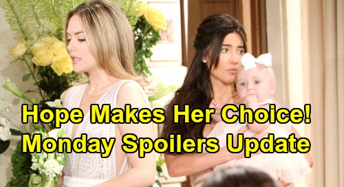 The Bold and the Beautiful Spoilers: Monday, July 22 Update - Phoebe Prompts Hope's Choice - Liam Launches Secret Flo Investigation