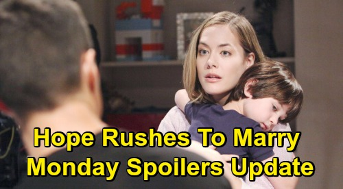 The Bold and the Beautiful Spoilers: Monday, July 15 Update – Hope and Thomas' Mad Dash to the Altar – Brooke Hits the Roof