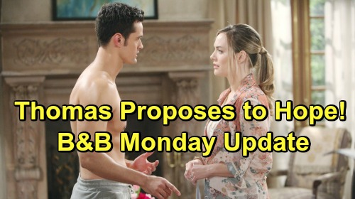 The Bold and the Beautiful Spoilers: Monday, May 6 Update – Hope Overwhelmed by Thomas' Engagement Ring – Sally's Confession