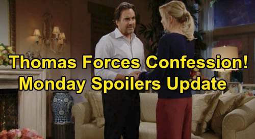 The Bold and the Beautiful Spoilers: Monday, November 25 Update – Thomas Forces Brooke To Reveal Cover-Up Secret – Ridge Outraged