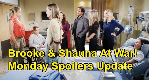 The Bold and the Beautiful Spoilers: Monday, October 14 Update – Brooke & Shauna Go to War Over Flo – Katie Deeply Grateful