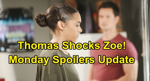 The Bold and the Beautiful Spoilers: Monday, October 21 Update – Liam Helps Steffy Win Hope War – Thomas' Risky Zoe Move
