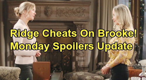 The Bold and the Beautiful Spoilers: Monday, October 28 - Ridge Cheats On Brooke - Kisses Shauna In Passionate Bedroom Fling