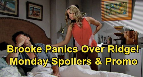 The Bold and the Beautiful Spoilers: Monday, September 16 Update – Brooke Panics Over Hubby's Vanishing Act – Ridge's Wake-Up Horror