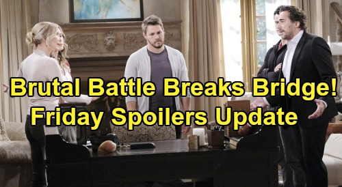 The Bold and the Beautiful Spoilers: Friday, October 25 Update – Tearful Thomas Promises Douglas – Brutal Battle Sinks 'Bridge'