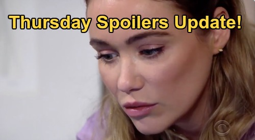 The Bold and the Beautiful Spoilers: Thursday, April 16 Update – Quinn Not Sorry for Scandal - Sneaky Flo Scores Sally's Med Info