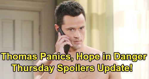 The Bold and the Beautiful Spoilers: Thursday, August 1 Update – Thomas Panics, Hope in Danger – Liam Gets Flo's Phoebe Story