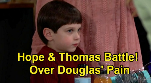 The Bold and the Beautiful Spoilers: Thursday, February 13 Update – Thomas & Hope Face Off Over Douglas' Pain – Stubborn Brooke's Problem