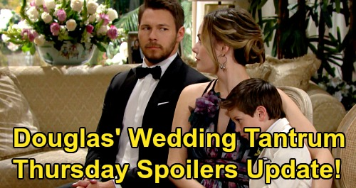 The Bold and the Beautiful Spoilers: Thursday, March 12 Update – Zoe Brushes Off Douglas Tantrum, Demands Thomas' Vows – Bill's Steamy Brooke Daydream