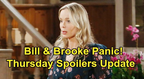 The Bold and the Beautiful Spoilers: Thursday, March 26 Update – Brooke & Bill Panic as Quinn Unleashes Scandal – Bridget Back Just in Time