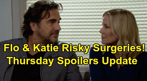 The Bold and the Beautiful Spoilers: Thursday, October 10 Update – Flo & Katie's Risky Surgeries – Sally & Wyatt's Adorable Babysitting