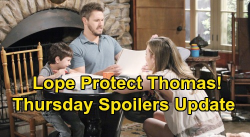 The Bold and the Beautiful Spoilers: Thursday, October 3 Update - Hope and Liam Try To Protect Douglas From Abusive Thomas