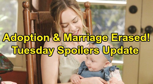 The Bold and the Beautiful Spoilers: Tuesday, August 20 Update – Hope Works to Erase 'Phoebe' Adoption & Thomas Marriage