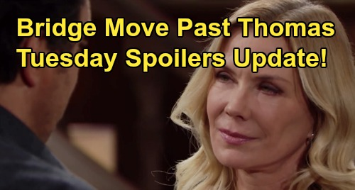 The Bold and the Beautiful Spoilers: Tuesday, December 31 Update – Zoe In Love, Thomas' Special Invite – Brooke & Ridge Reconcile