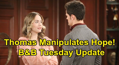The Bold and the Beautiful Spoilers: Tuesday, February 11 Update – Dying Sally Shocks Bill, Katie Blabs – Thomas Manipulates Hope