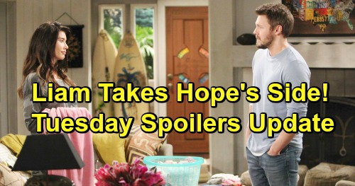 The Bold and the Beautiful Spoilers: Tuesday, February 12 Update – Liam Fights for Hope and Phoebe Bonding – Freaked Flo Frantic