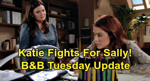 The Bold and the Beautiful Spoilers: Tuesday, February 25 Update – Katie Fights for Dying Sally's Fashion Career – Flo Gives Up Wyatt For Sally