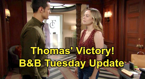 The Bold and the Beautiful Spoilers: Tuesday, January 21 Update – Thomas' Victory, Comforts Hope Over Liam Split – Sally Strikes Back at Flo